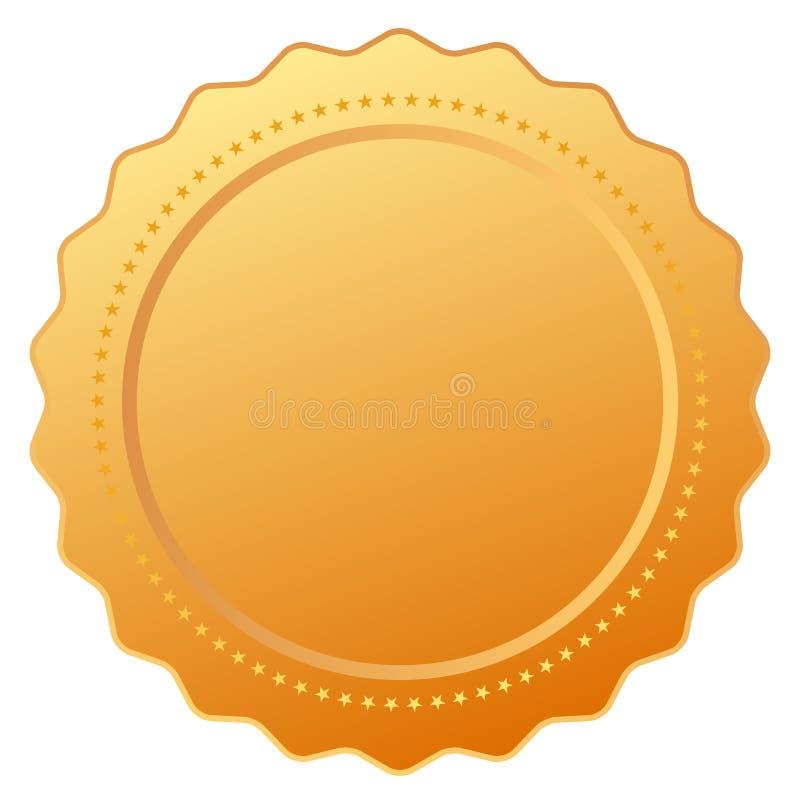 Tomt guld- certifikat stock illustrationer