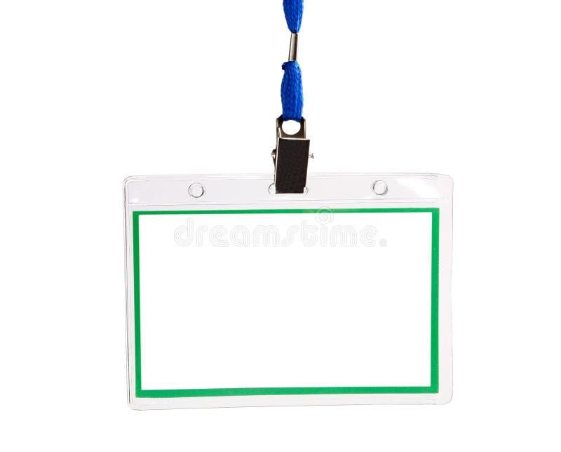 tomt ID för emblemkort arkivfoton