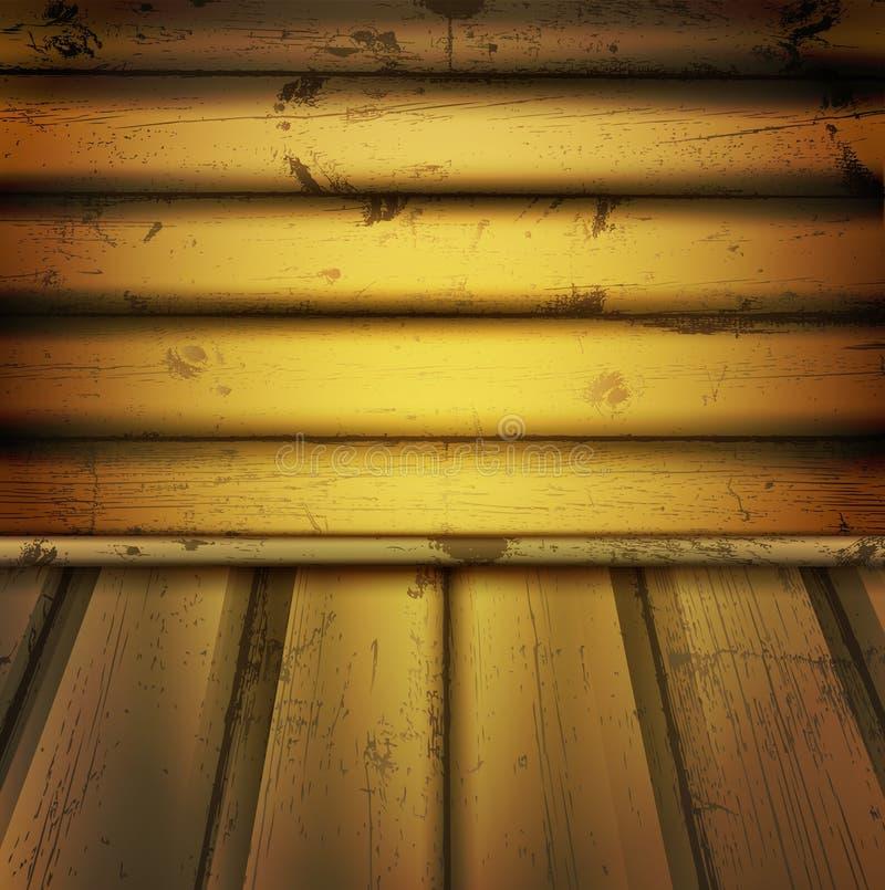 Download Tomt inre naturligt trä stock illustrationer. Illustration av smutsigt - 19784646