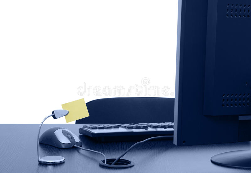 tomt kontor för skrivbord royaltyfria bilder