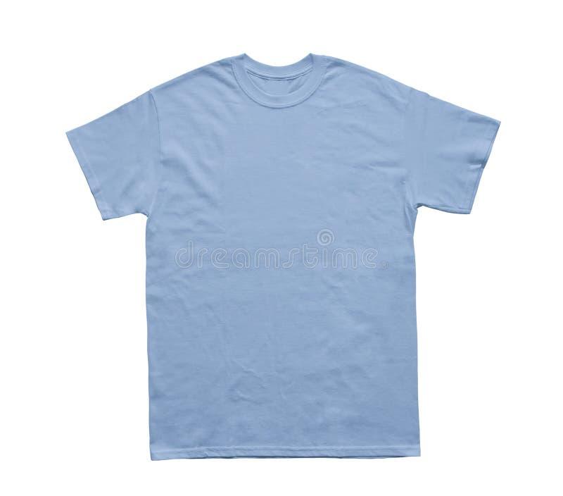 Tomt ljus för T-skjortafärg - blå mall royaltyfri bild