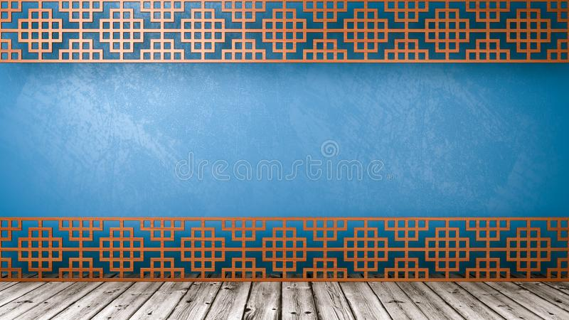 Tomt orientaliskt stilrum med Copyspace royaltyfri illustrationer