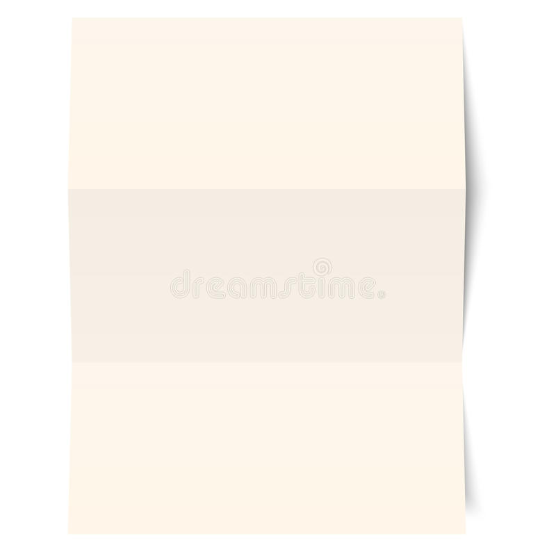 tomt paper ark stock illustrationer