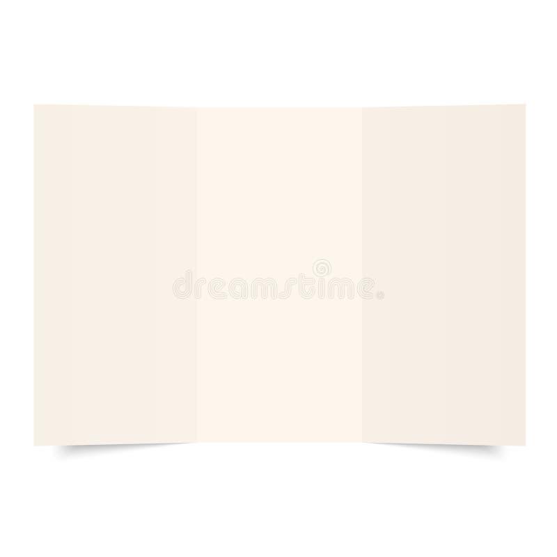 tomt paper ark royaltyfri illustrationer