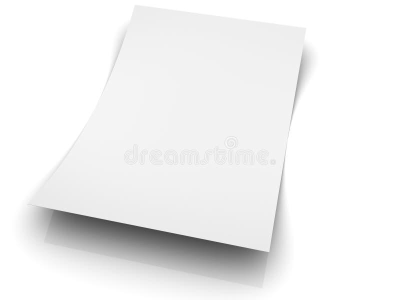 tomt papper vektor illustrationer
