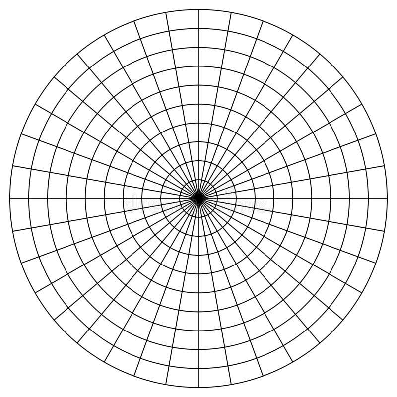 Tomt polart grafpapper - gradskiva - vektor för pajdiagram stock illustrationer