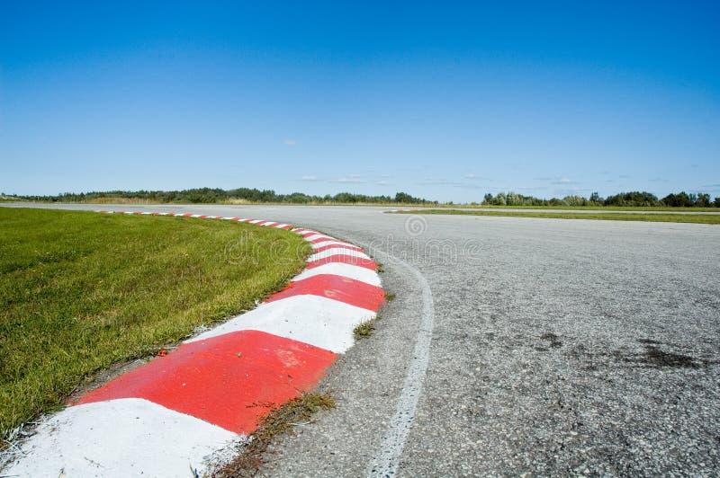 tomt racespår royaltyfri foto