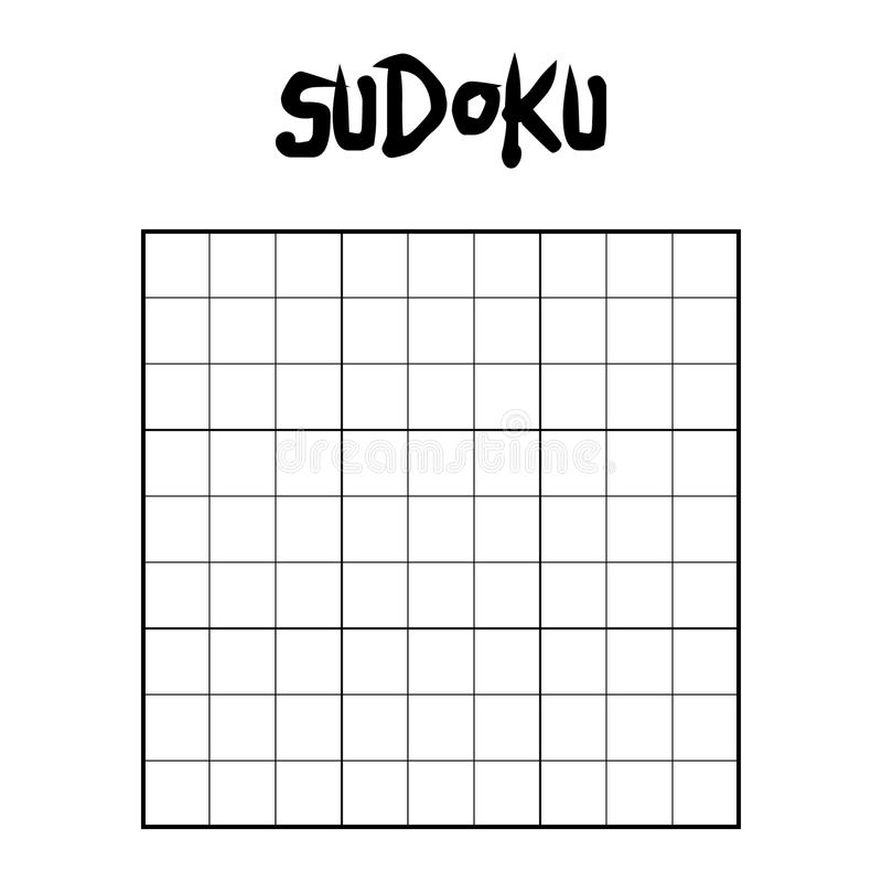 Tomt sudokuraster vektor illustrationer