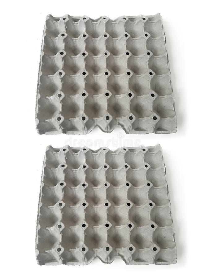 Tomt tagande för äggpapperspanel från bästa sikt och som isolerar på vit bakgrund fotografering för bildbyråer