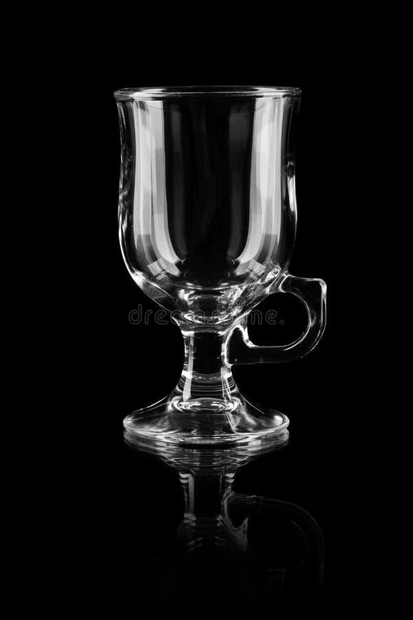 Tomt teaexponeringsglas royaltyfria foton