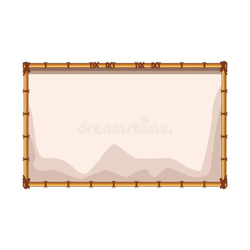 Tomt tecken för bambu vektor illustrationer