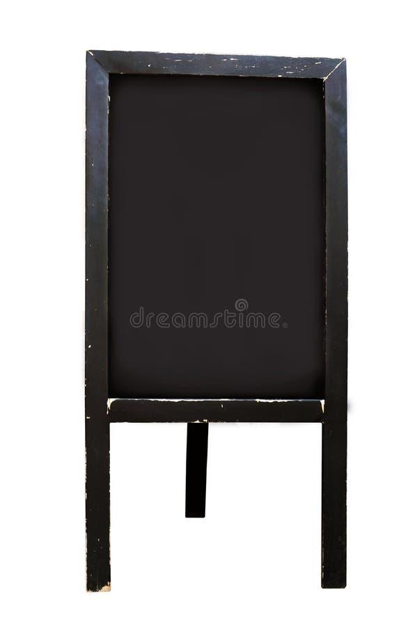 Tomt tecken för svart tavlagolvställning royaltyfria foton