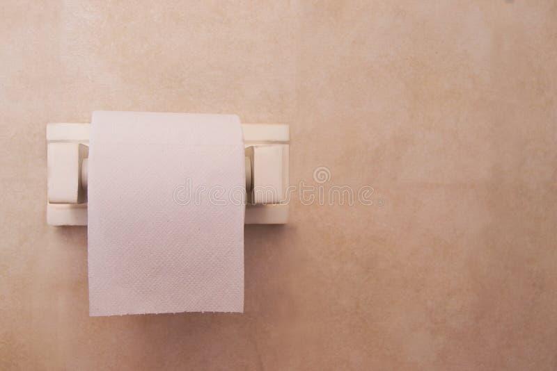 Tomt toalettpapper royaltyfri fotografi