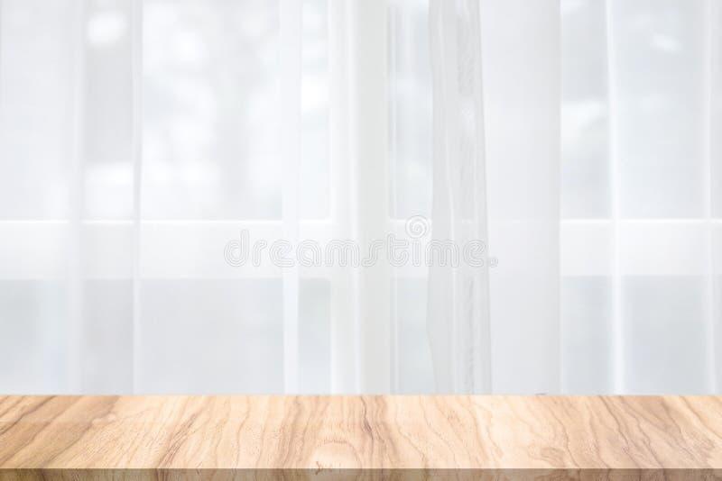 Tomt träskrivbord i den naturliga platsen för morgon Morgonbakgrunder för din produkt arkivfoton