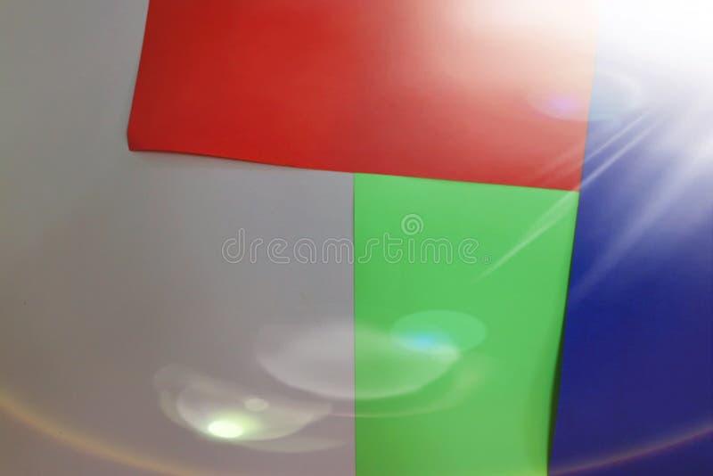 Tomt utrymme som kopierar utrymmen, pappers- stilar, grönt, grått, blått som är röda, bokehbilder, begrepp för pastellfärgade abs royaltyfria bilder