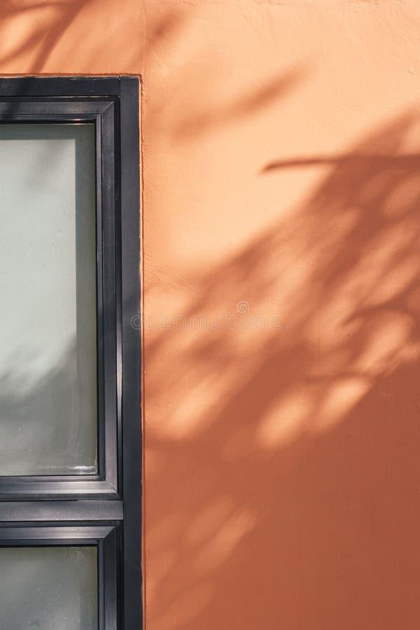 Tomt vägg och fönster royaltyfria foton
