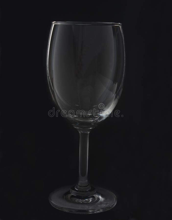 Tomt vinexponeringsglas royaltyfria bilder