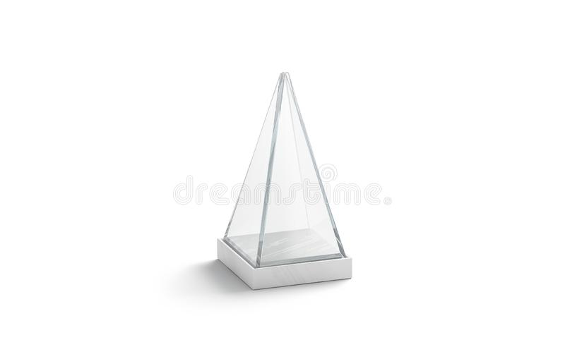 Tomt vitt exponeringsglas ställer ut upp pyramidåtlöje, isolerat vektor illustrationer