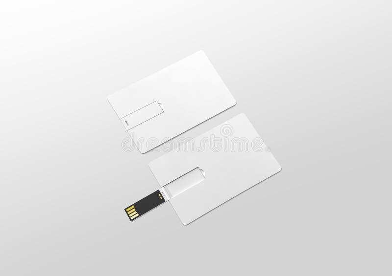 Tomt vitt plast- ligga för modell för rånusb-kort som öppnas stängt arkivbilder