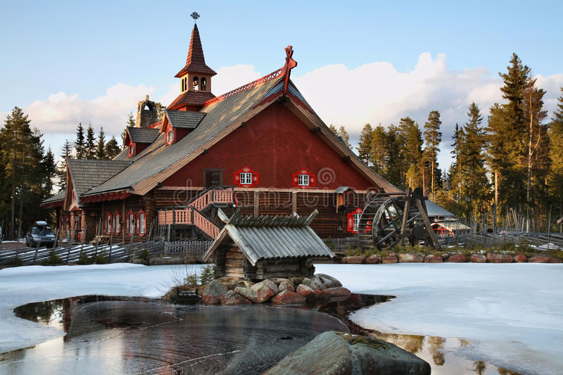 tomteland  house of santa claus sweden stock photo
