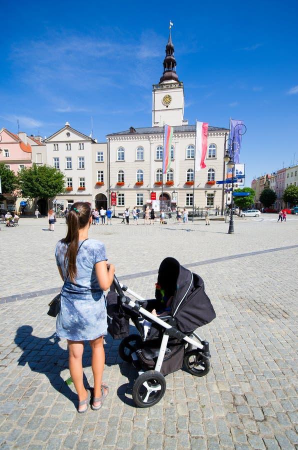 Tomten Dzierzoniow - Lower Silesia, Polen royaltyfri bild