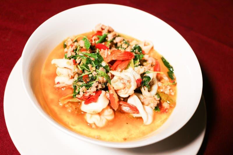 Tomyum seafood stock photos