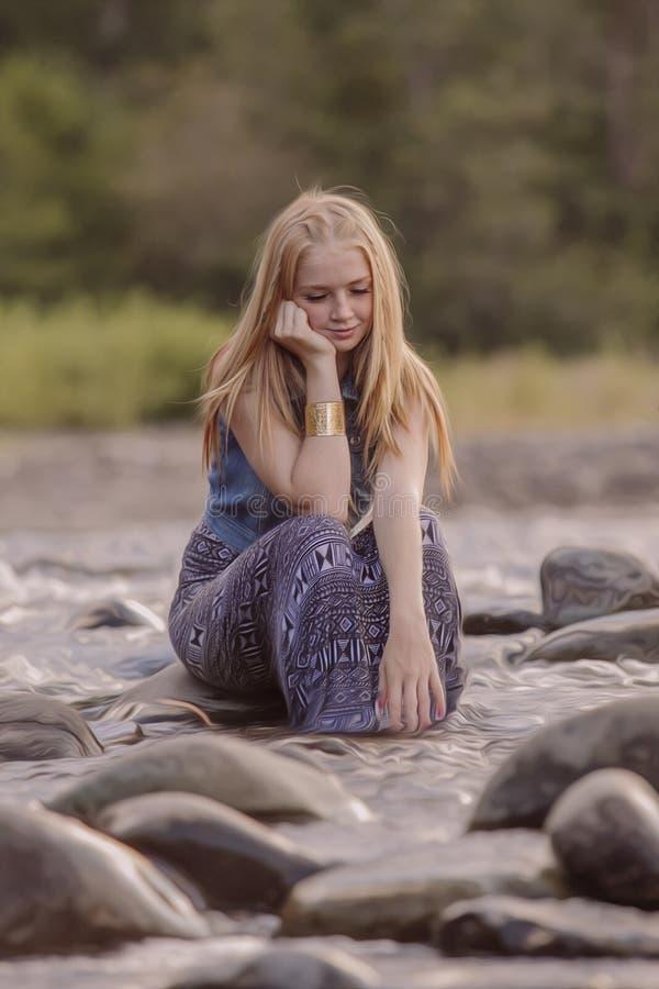 Tonårig flicka fotografering för bildbyråer