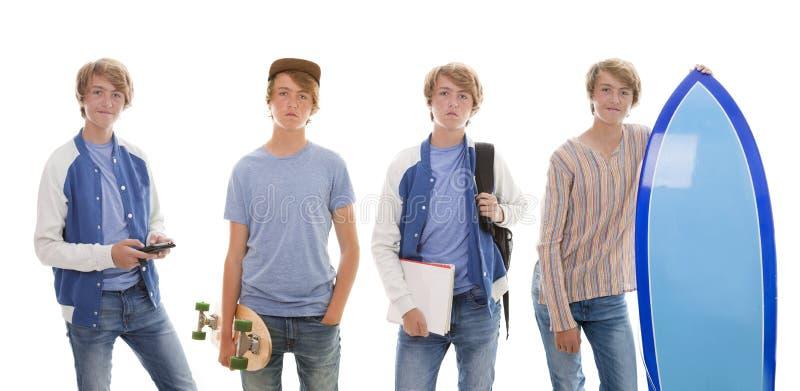 Tonåriga tidsfördriv arkivfoto