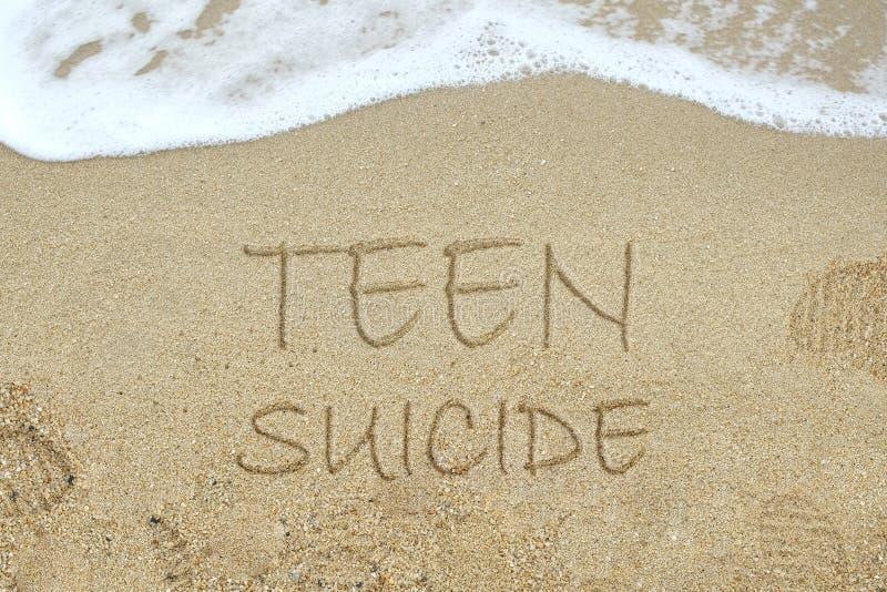 Tonårigt självmordbegrepp arkivbild