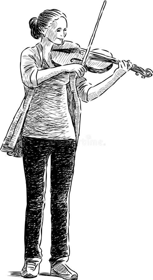 Tonårigt spela en lurendrejeri royaltyfri illustrationer