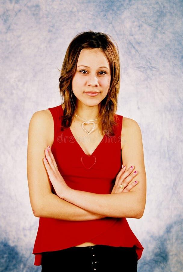 Download Tonåring ii arkivfoto. Bild av folk, lyckligt, rött, teen - 24432