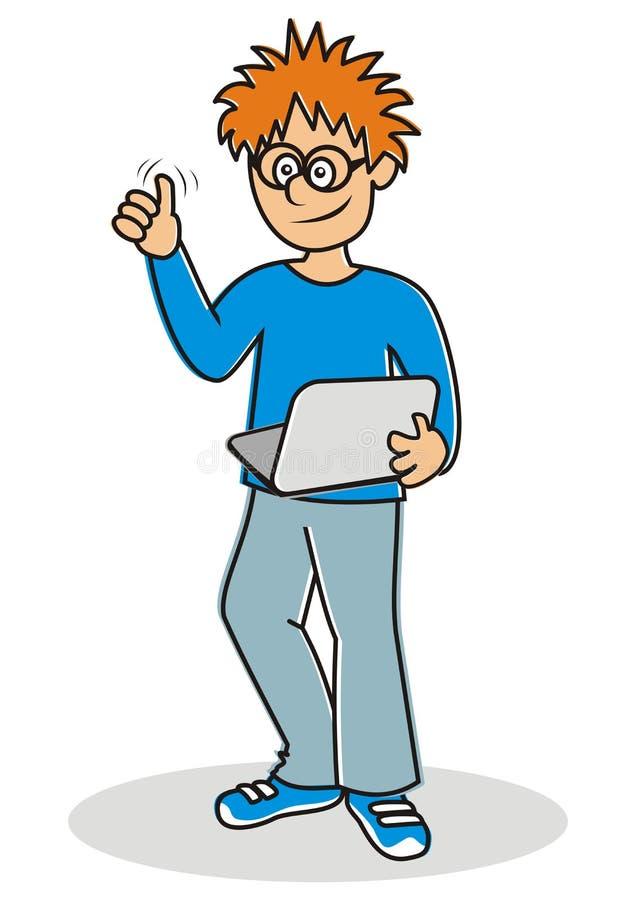 Tonåring och anteckningsbok vektor illustrationer