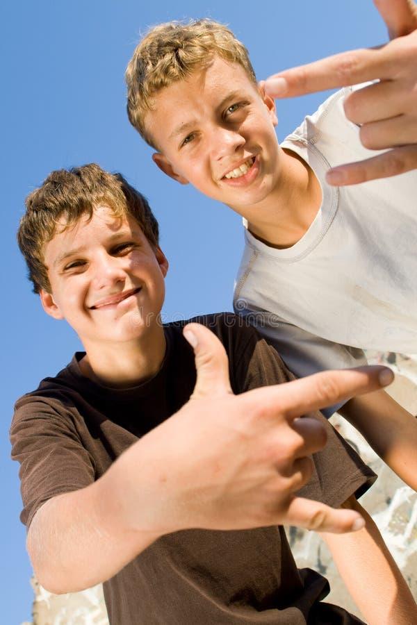 tonåringar arkivbild