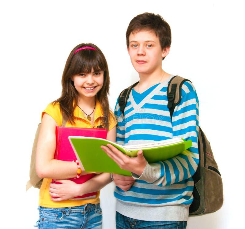 tonåringar två royaltyfria bilder