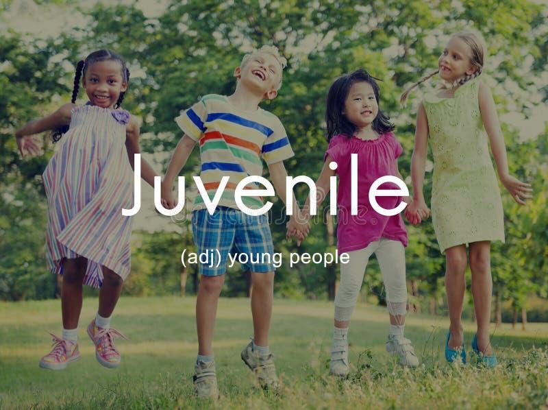 Tonåringen lurar begrepp för ungdombarnbarn royaltyfria foton