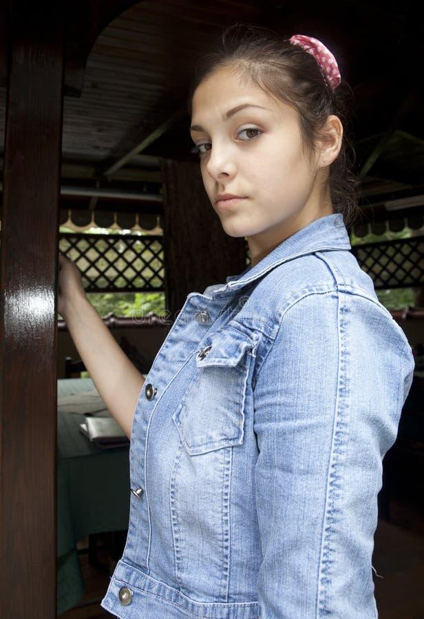 Tonåringinställning arkivfoto