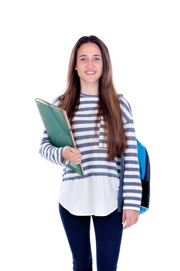 Tonåringstudentflicka royaltyfri fotografi