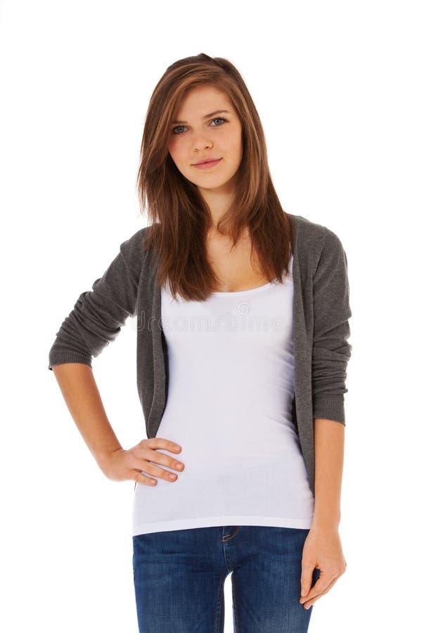 tonårs- attraktiv flicka arkivfoto