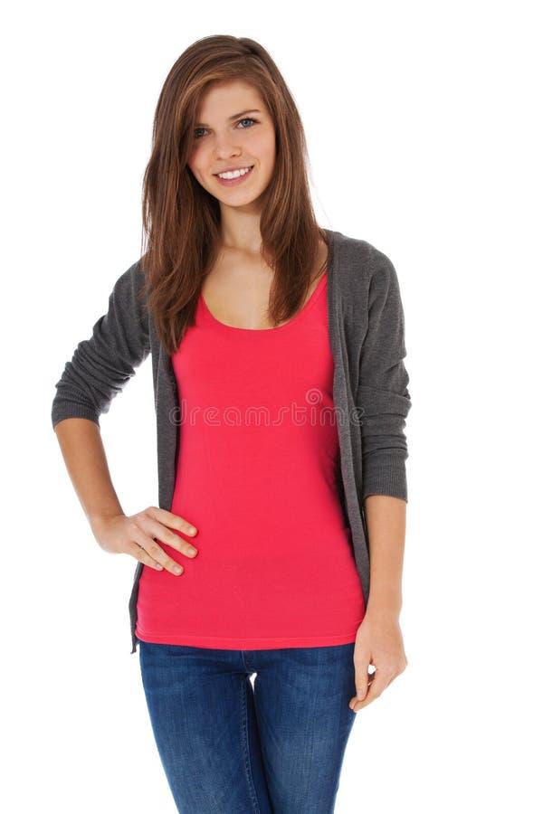 tonårs- attraktiv flicka royaltyfria foton