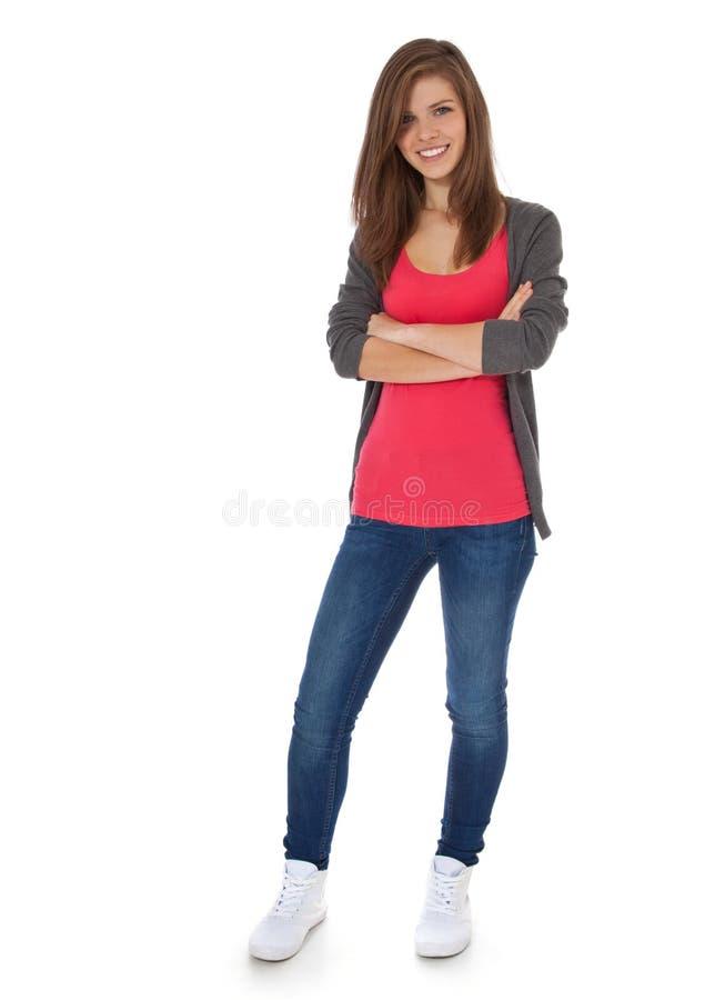 tonårs- attraktiv flicka royaltyfria bilder