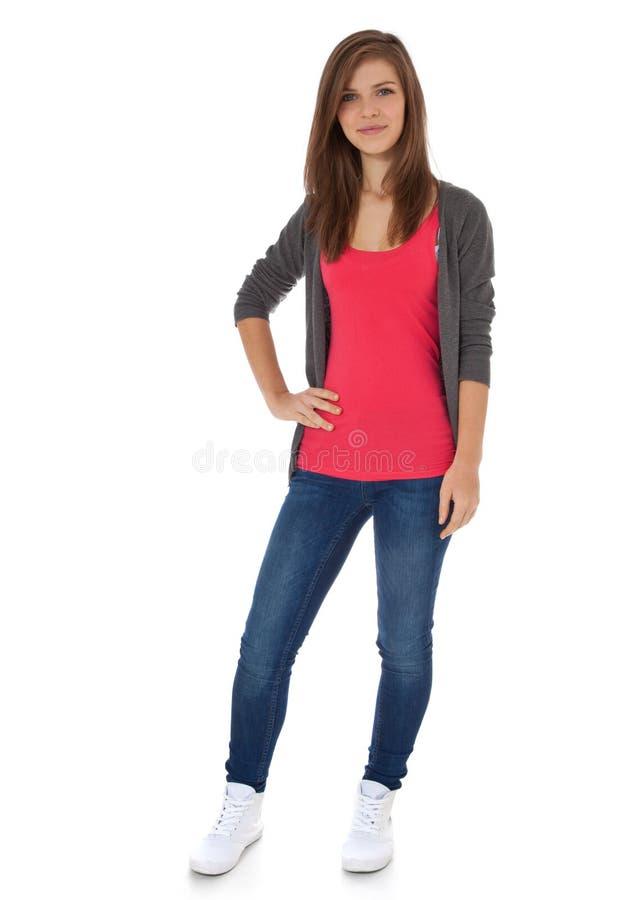 tonårs- attraktiv flicka arkivfoton
