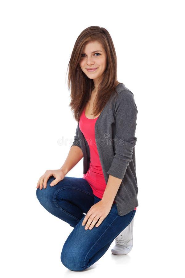 tonårs- attraktiv flicka royaltyfri foto