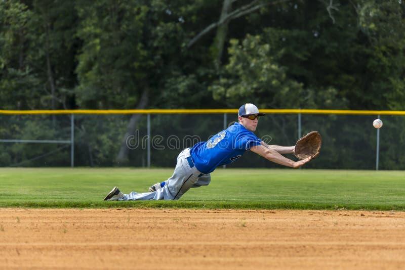 Tonårs- basebollspelare royaltyfri fotografi