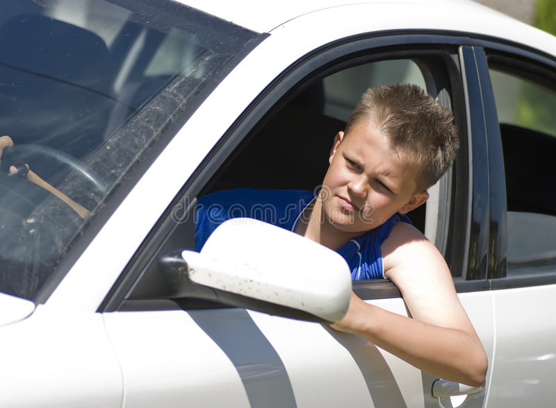 tonårs- chaufför royaltyfria foton
