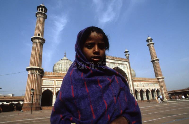 tonårs- flickajama-masjid royaltyfri foto