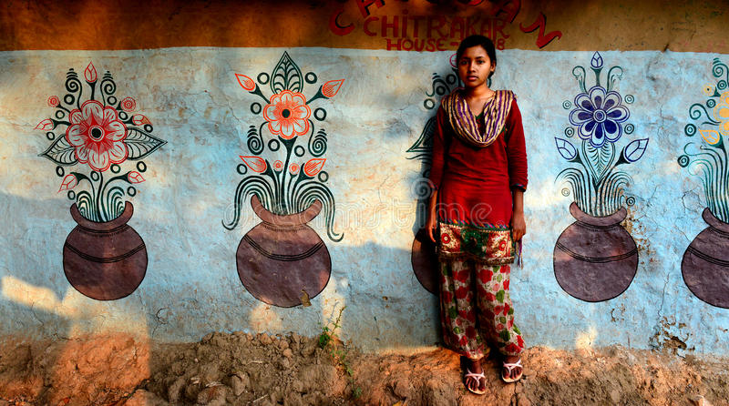 Tonårs- indisk flicka arkivfoto