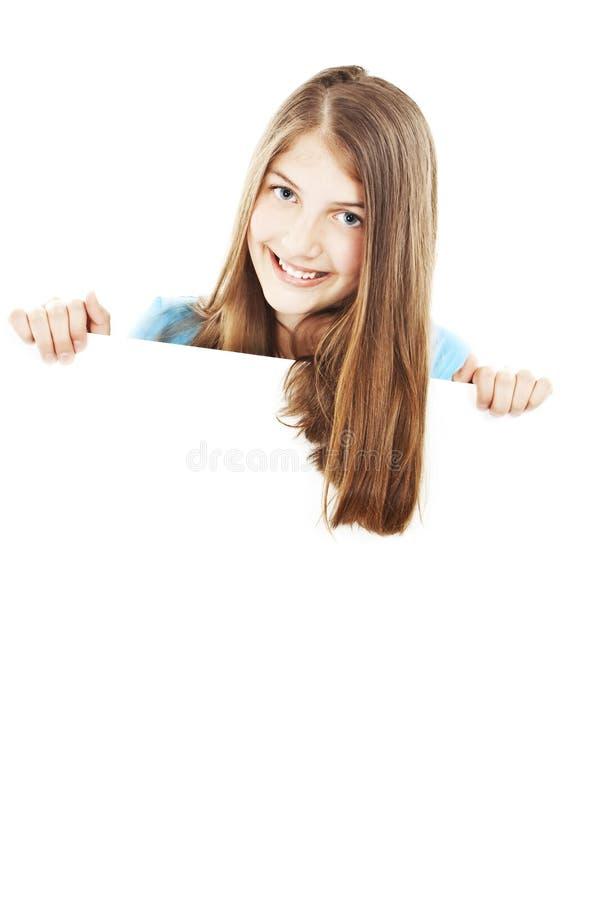 Download Tonårs- Lycklig Bild För Blank Brädeflicka Fotografering för Bildbyråer - Bild av begrepp, gladlynt: 19795091