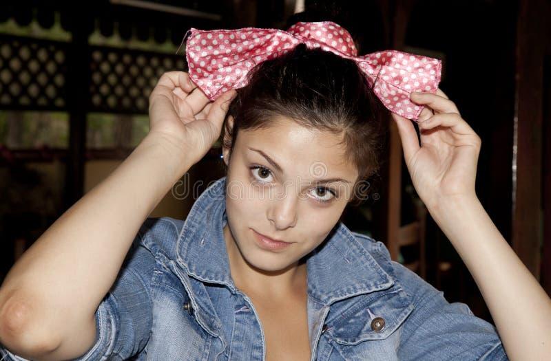 tonårs- mode royaltyfria foton