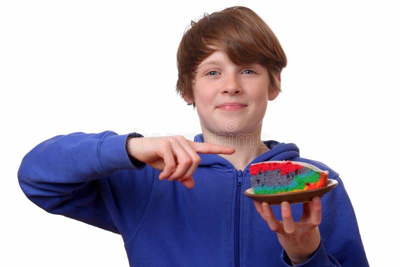 Färgrik tårta arkivfoton