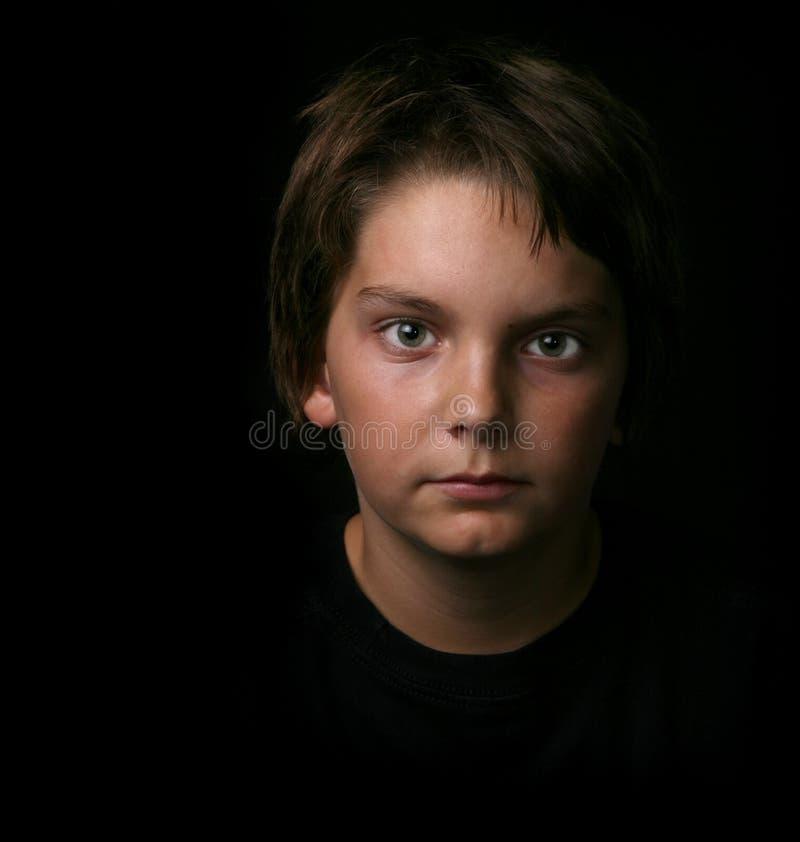 tonårs- pojkebarn royaltyfria foton